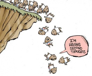 Lemming Off a Cliff