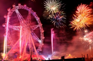 Fireworks and Ferris Wheel