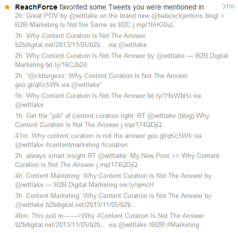 Twitter Favorite Spam Reachforce 11
