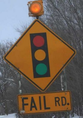 Fail Road Sign